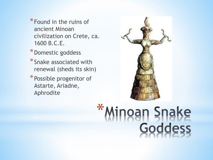 Found in the ruins of ancient Minoan civilization on Crete, ca. 1600 B.C.E.