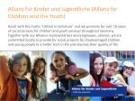 allianz f r kinder und jugendliche allianz for children and the youth