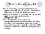what do i do after i apply