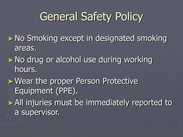 General Safety Policy