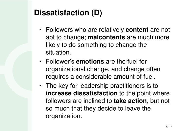 Dissatisfaction (D)