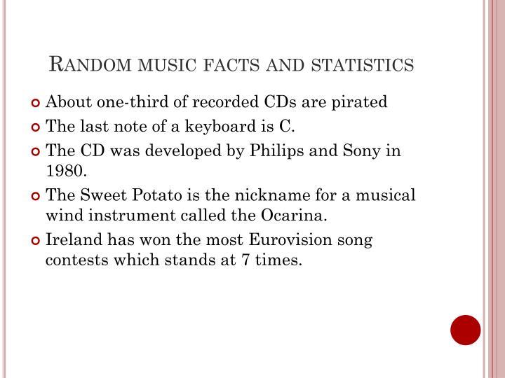 Random music facts and statistics