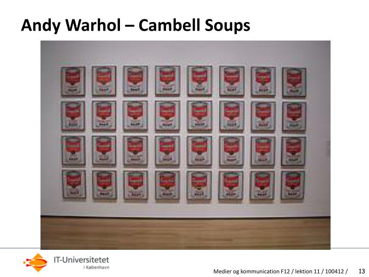 Andy Warhol – Cambell