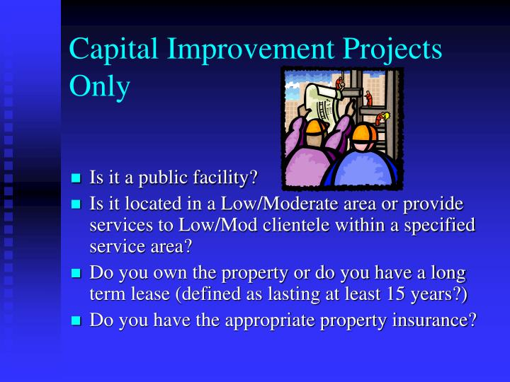 Capital Improvement Projects Only
