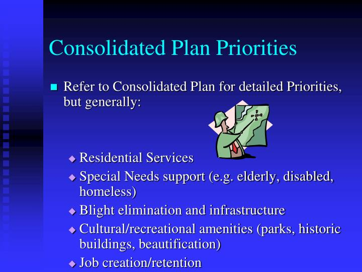 Consolidated Plan Priorities