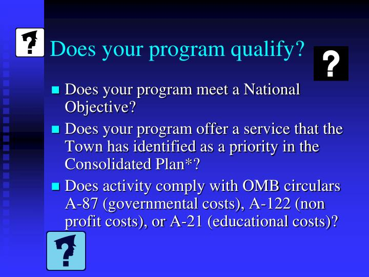 Does your program qualify?