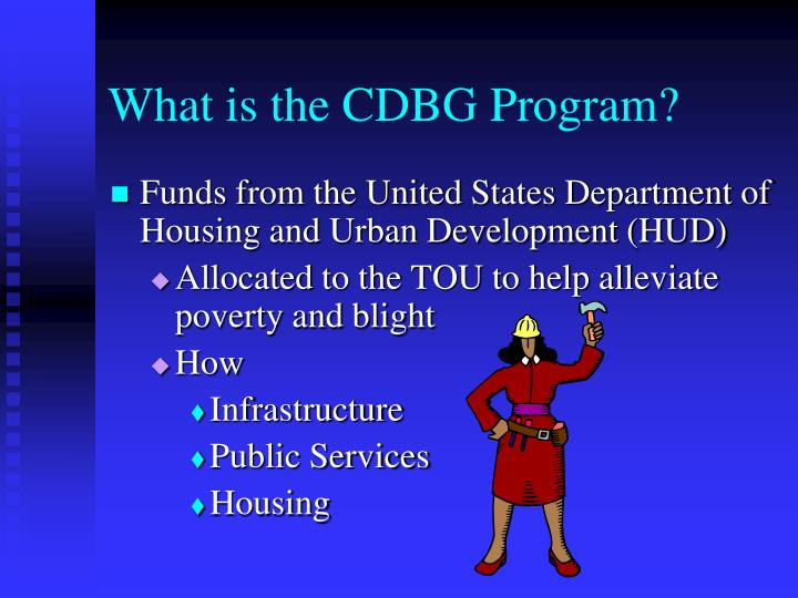 What is the CDBG Program?