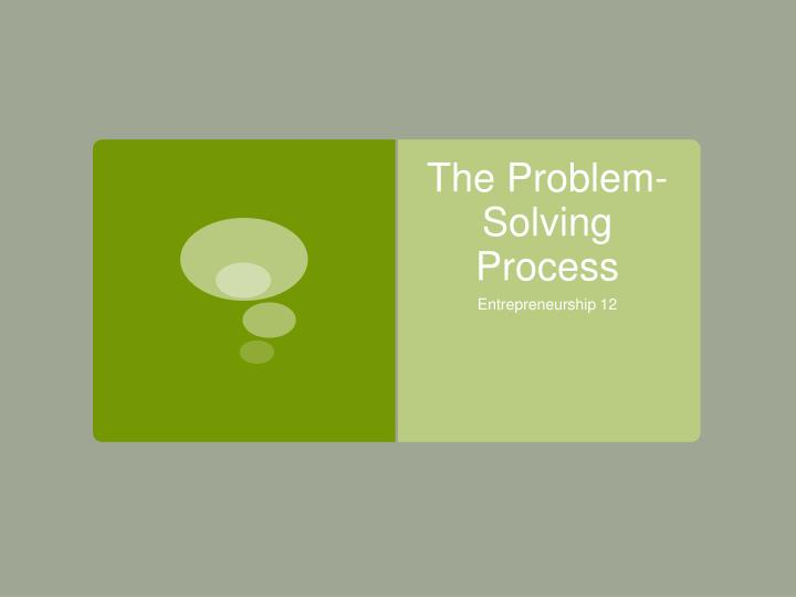 the problem solving process n.