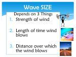 wave size