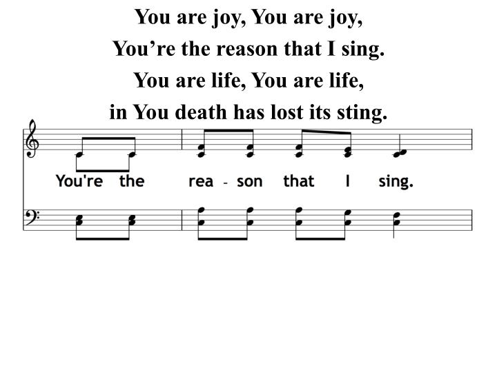 You are joy, You are joy,