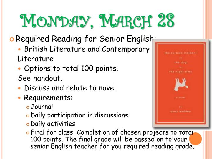Monday march 28
