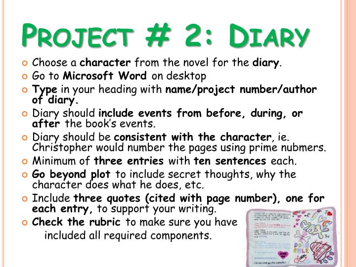 Project # 2: Diary
