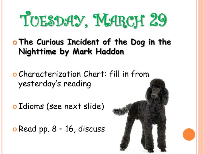 Tuesday, March 29