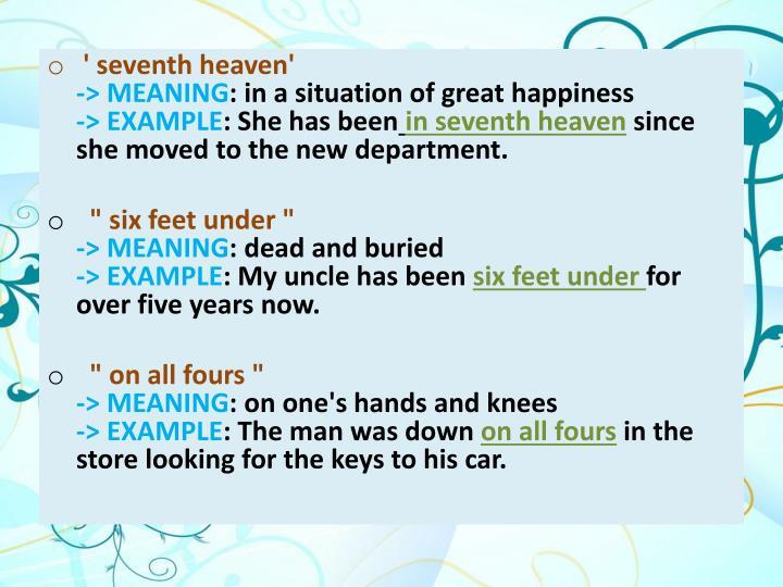 ' seventh heaven'