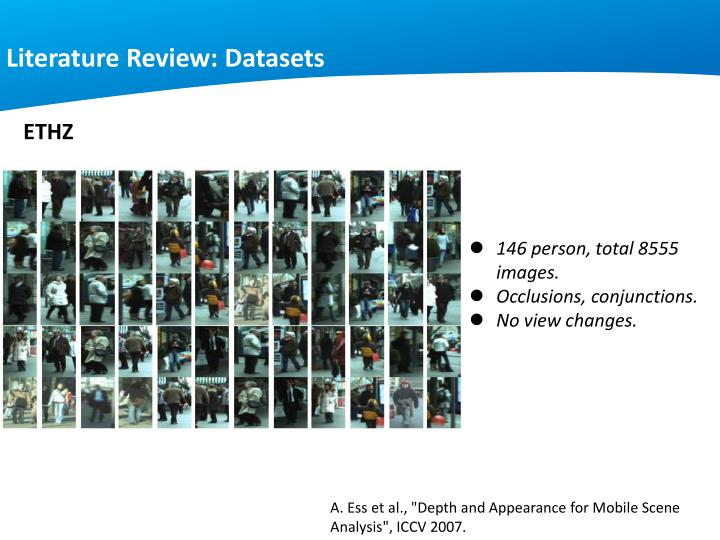 Literature Review: Datasets
