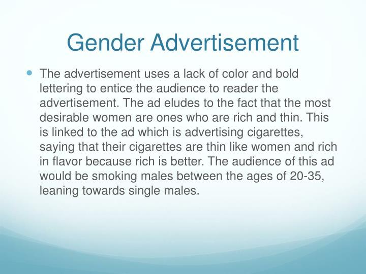 Gender advertisement