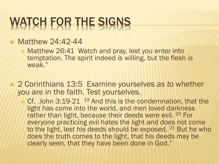 Matthew 24:42-44