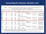 accounting for variance genetics cont