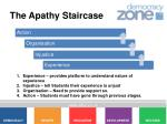 the apathy staircase