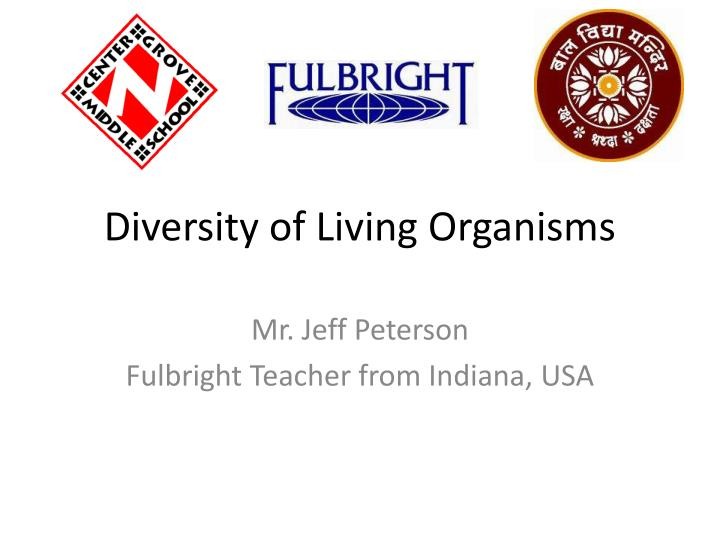 diversity of living organisms n.