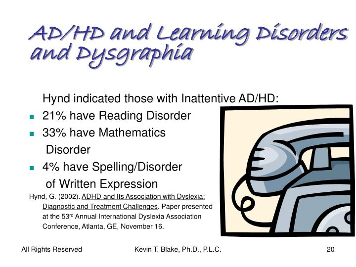 AD/HD and Learning Disorders and Dysgraphia