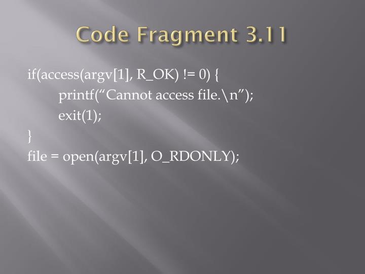 Code Fragment 3.11