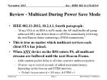 review multicast during power save mode
