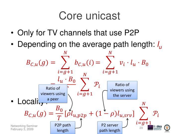 Core unicast