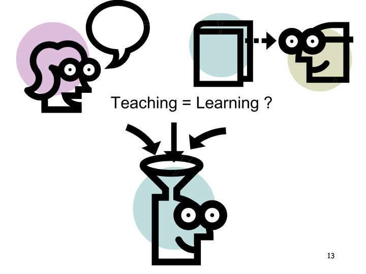 Teaching = Learning ?