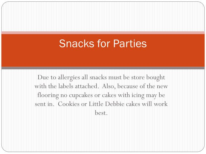 Snacks for Parties