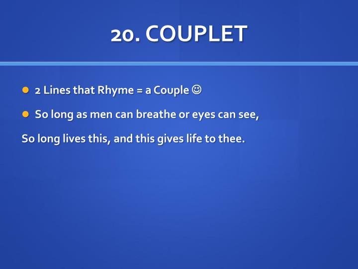 20. COUPLET