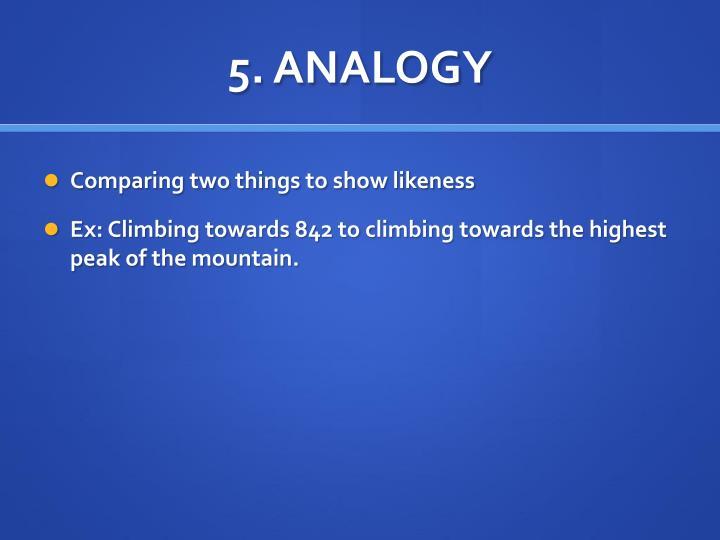 5. ANALOGY