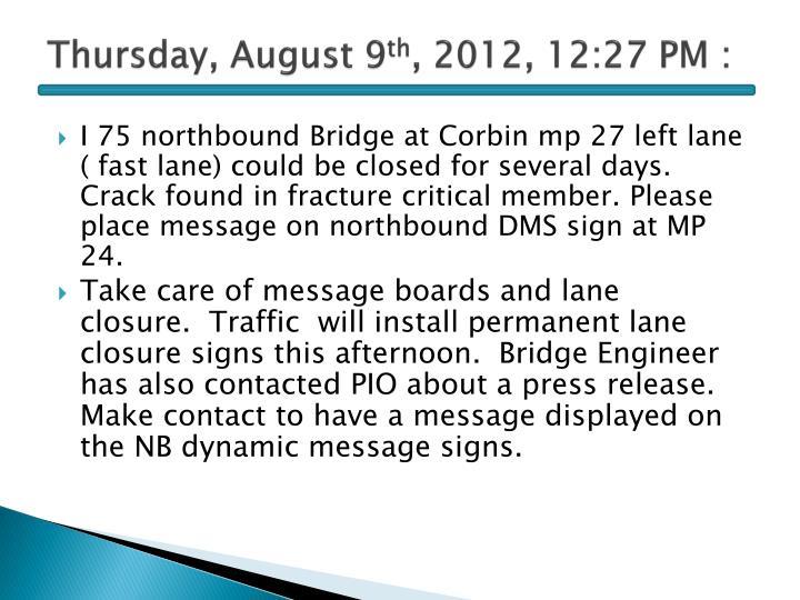 Thursday, August 9