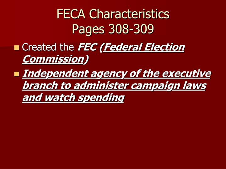 FECA Characteristics