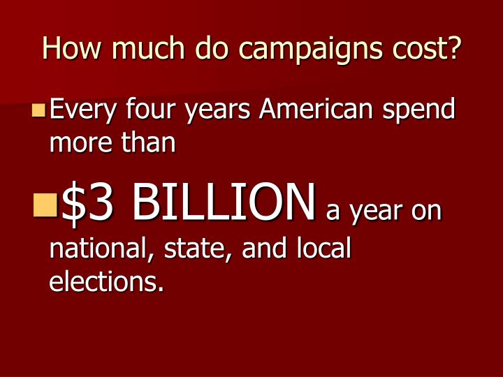 How much do campaigns cost?