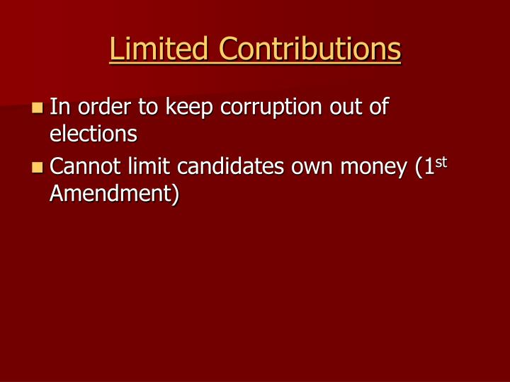 Limited Contributions
