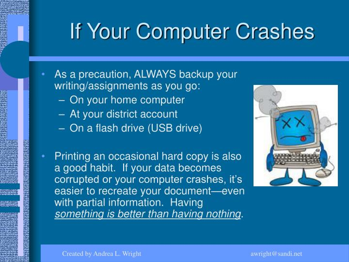 If Your Computer Crashes