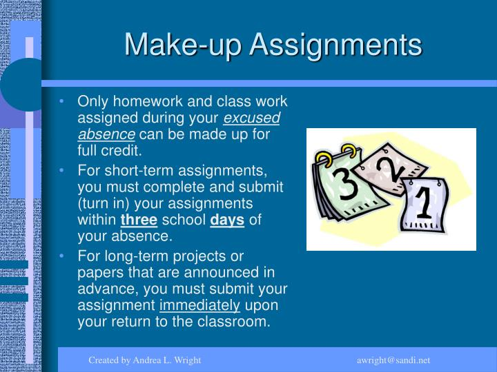 Make-up Assignments