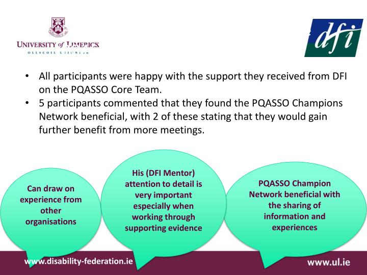 Findings from Open Interviews on the PQASSO process