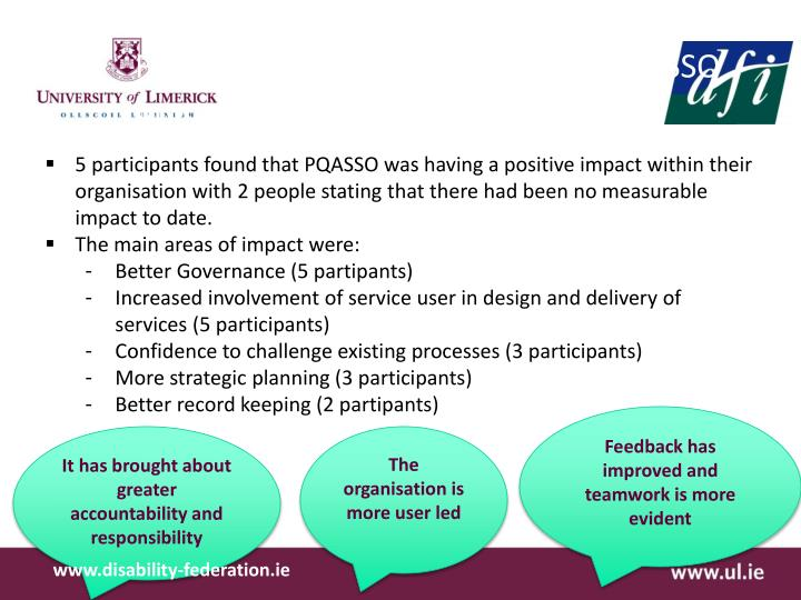 Findings from Interviews on the PQASSO process