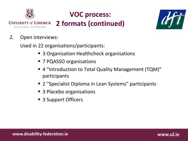 VOC process: