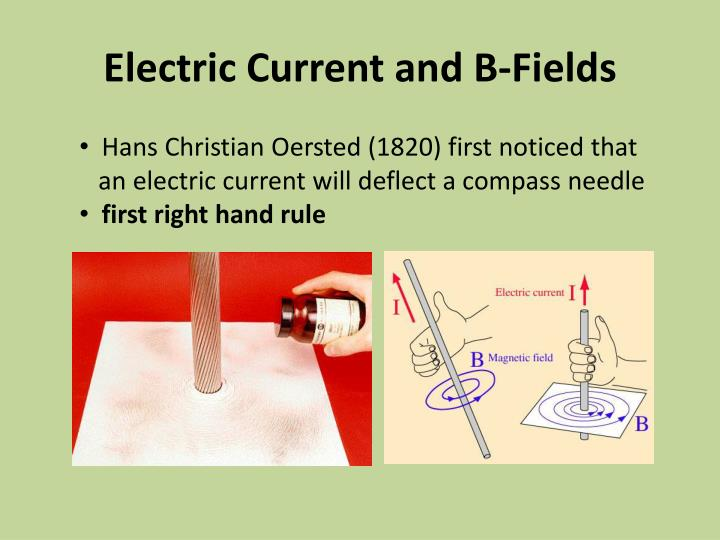 Electric Current and B-Fields