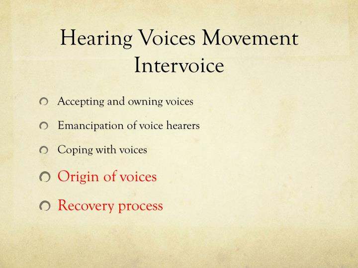 Hearing voices movement intervoice