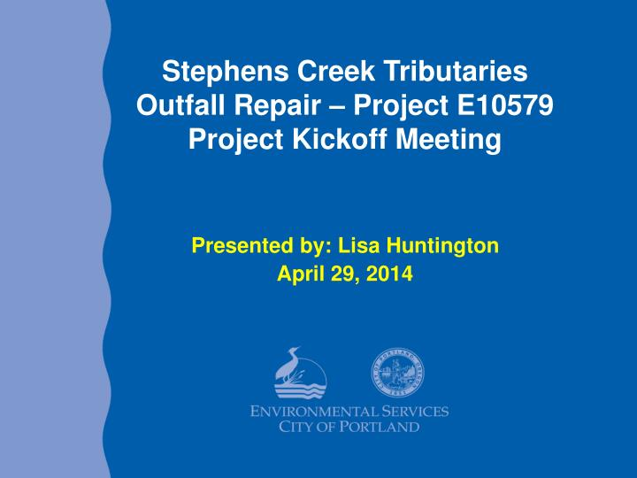 Stephens creek tributaries outfall repair project e10579 project kickoff meeting