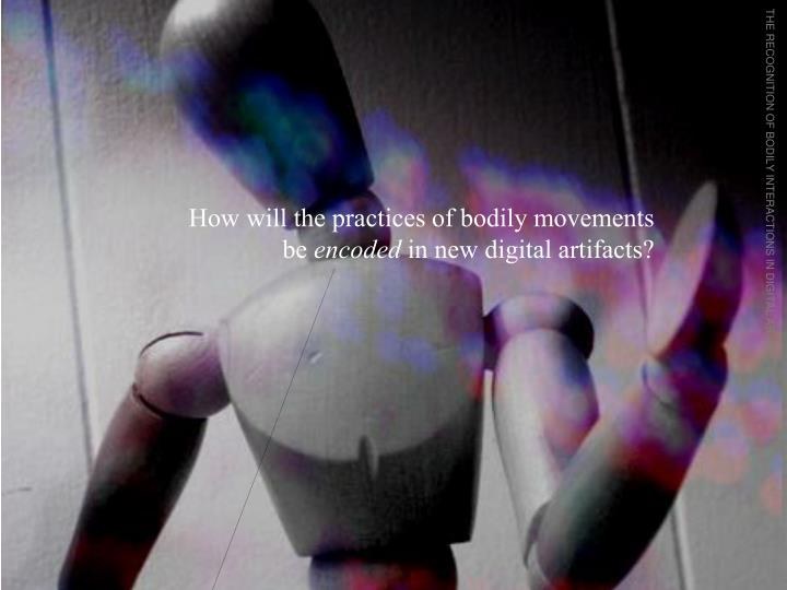 THE RECOGNITION OF BODILY INTERACTIONS