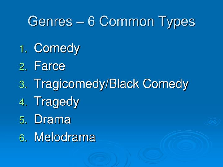 Genres – 6 Common Types
