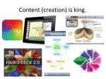 content creation is king