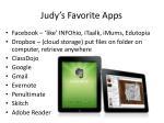judy s favorite apps