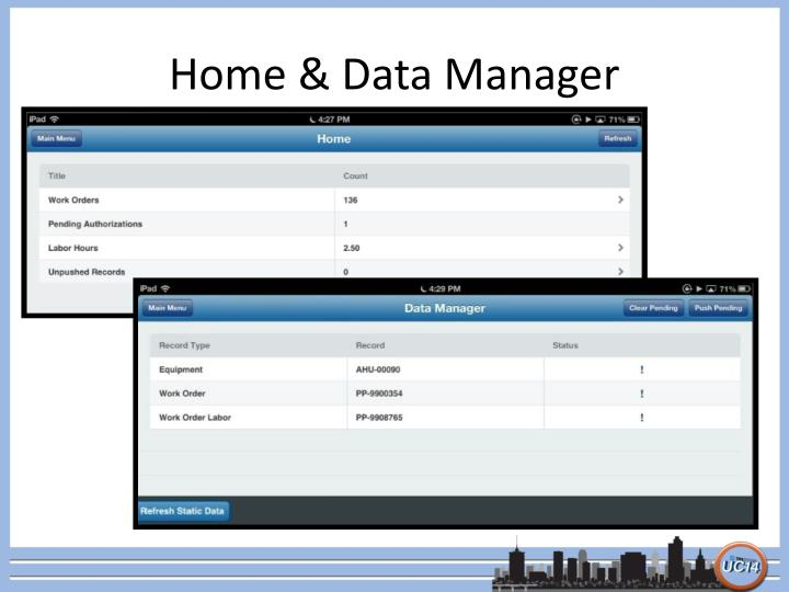 Home & Data Manager