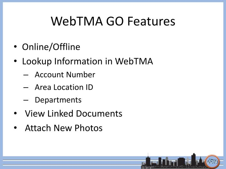Webtma go features